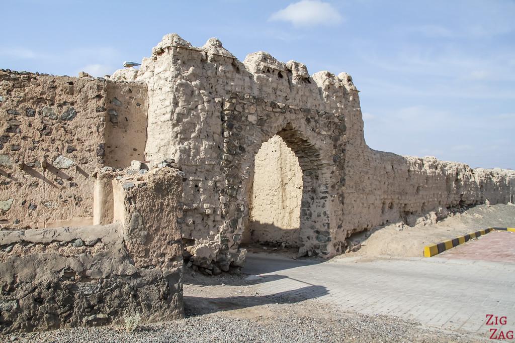 Al Munisifeh, Oman - fortified wall
