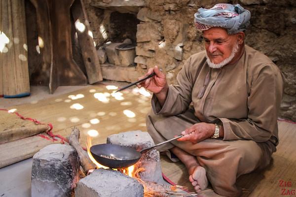 Omani Men - roasting cofee