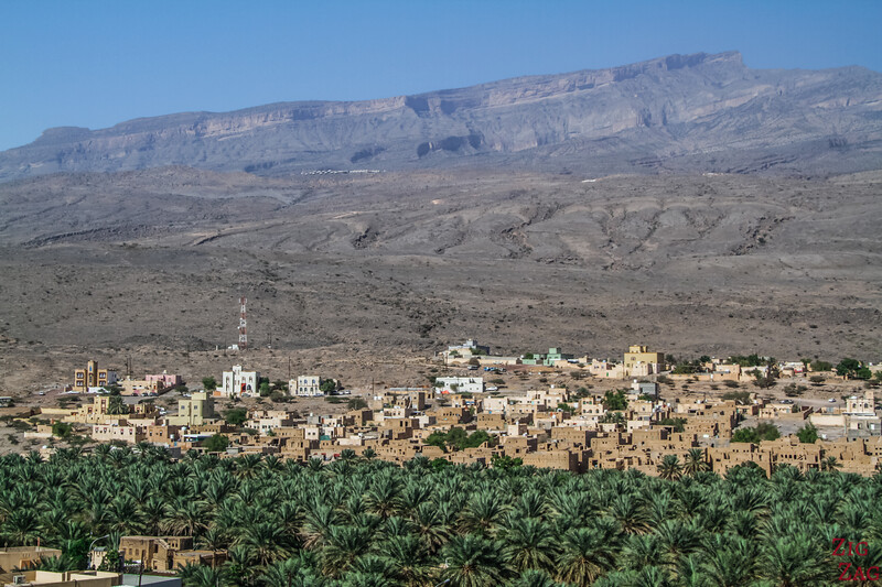 Al Hamra, Oman - mountain backdrop