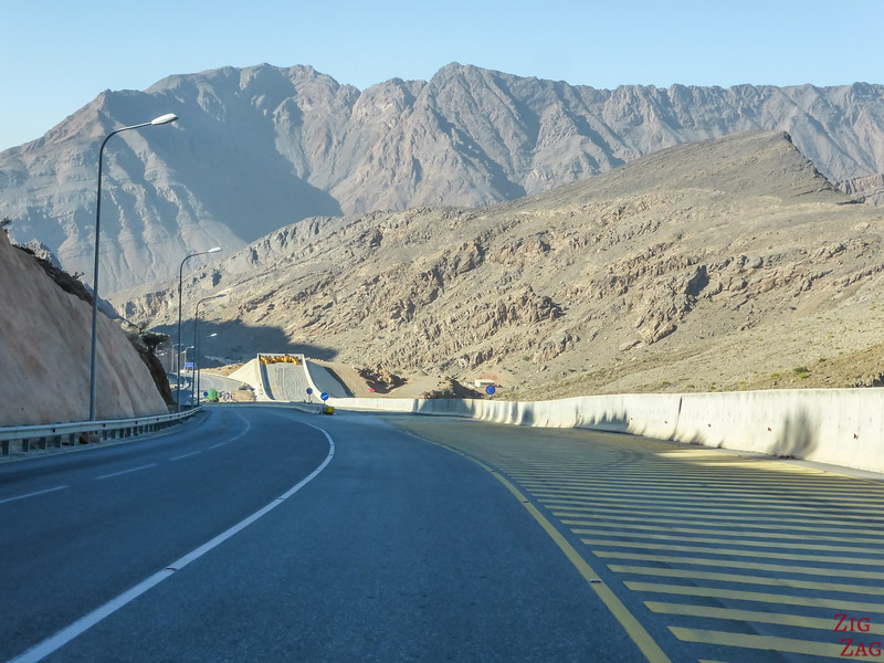 Jebel Al Akhdar road - emergency exit