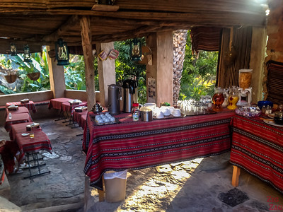 Breakfast terrace - Misfah old house - Misfat Al Abriyeen - Oman