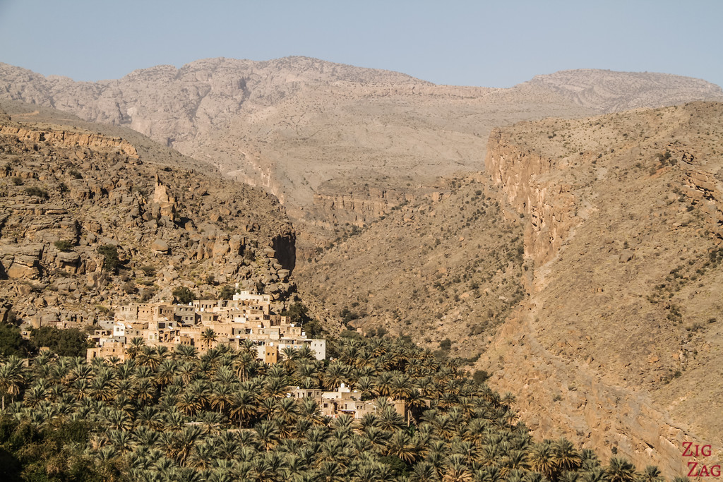 View of Misfat Al Abriyeen and plantations