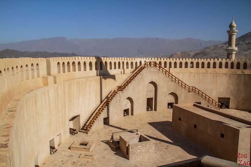 Nizwa Fort, Oman - view of the tower top