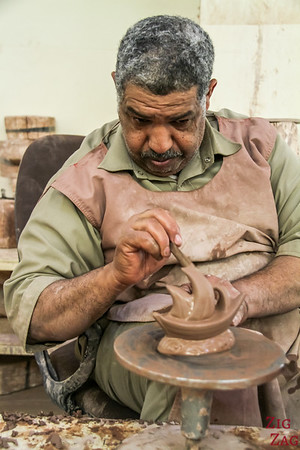 Oman People - pottery worker