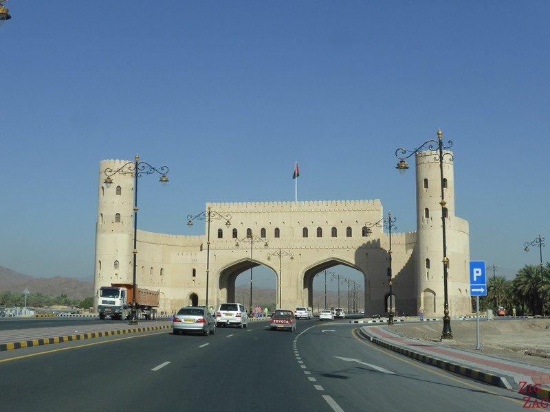 Driving in Oman - towns