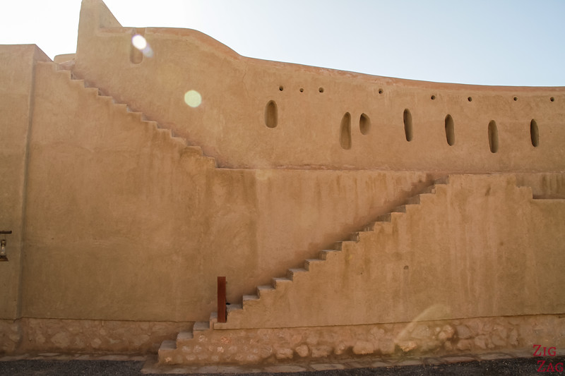 Nizwa Fort, Oman - wall stairs