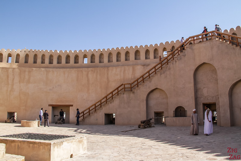 Nizwa Fort, Oman - canon level Tower