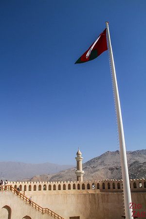 Nizwa Fort, Oman - flag pole