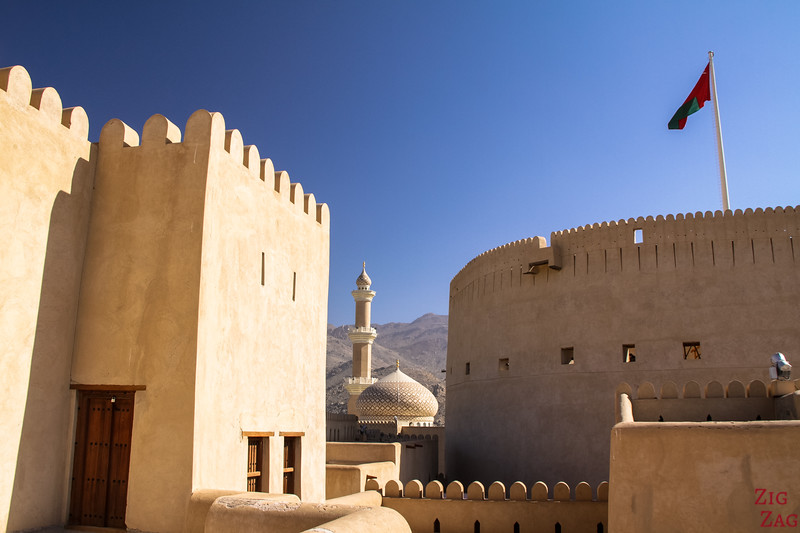 Nizwa Fort, Oman - castle upper area 5