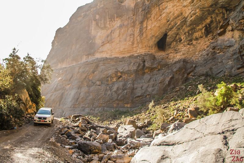 Accès 4*4 à Wadi Nakhr Wadi Ghul