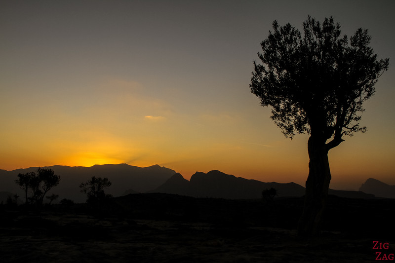 Coucher de soleil au Grand Canyon Oman 6