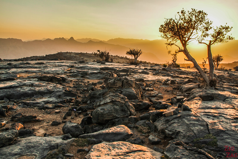 Coucher de soleil au Grand Canyon Oman 3