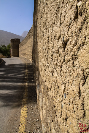 Wall of the Rustaq Fort Oman