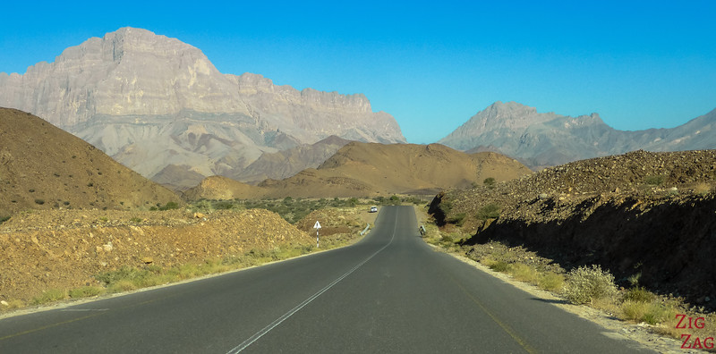 amazing roads in Oman