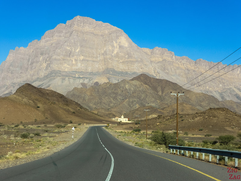 Road trip in Oman - driving times