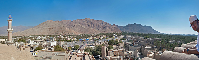 Nizwa from the ramparts of the fort, with Ahmed.