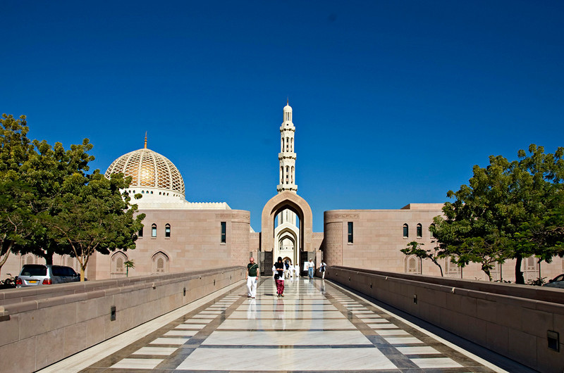 The Grand Mosque from the entry way