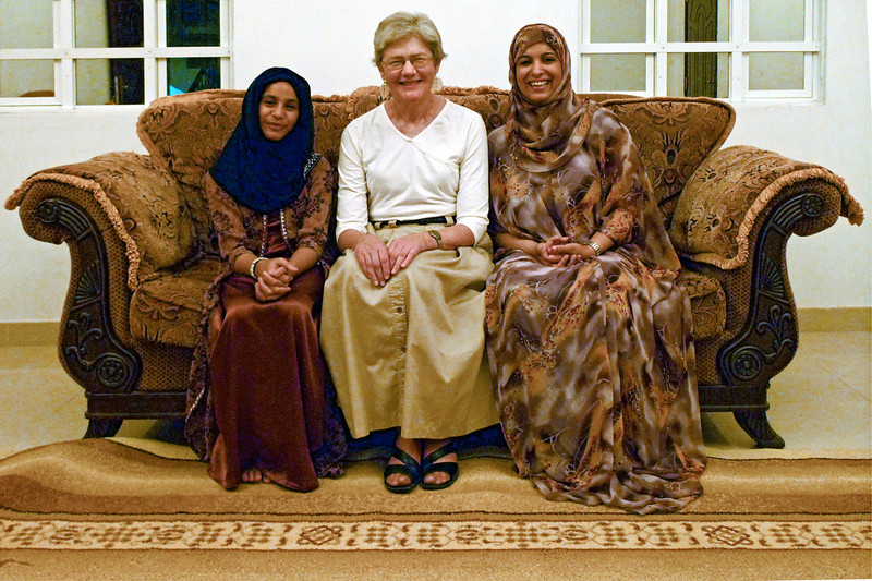 Carolyn with Abdullah's daughters.