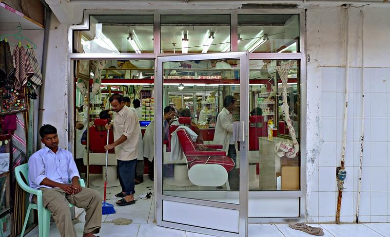 Barber shop in the souk at Salalah