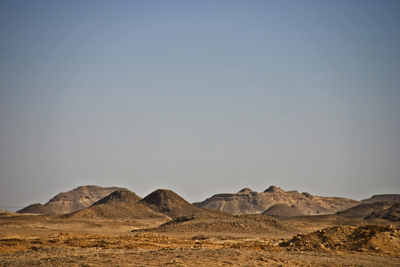 Landscape of the Dhofar plateau on the way to Ubar.