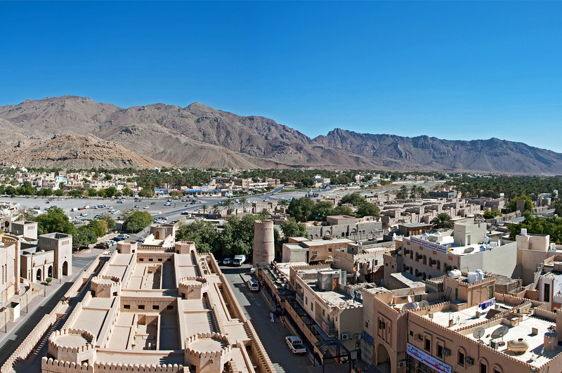 Nizwa from the ramparts of the fort.