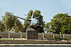 Omani Air Force fighter plane monument.