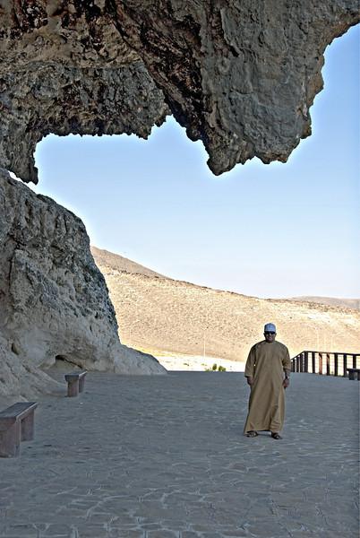 Khalid at Ag Magsal Caves.