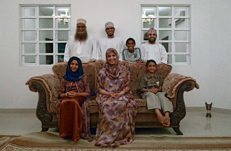 Abdullah Al Shuely and his family at home, Muscat.