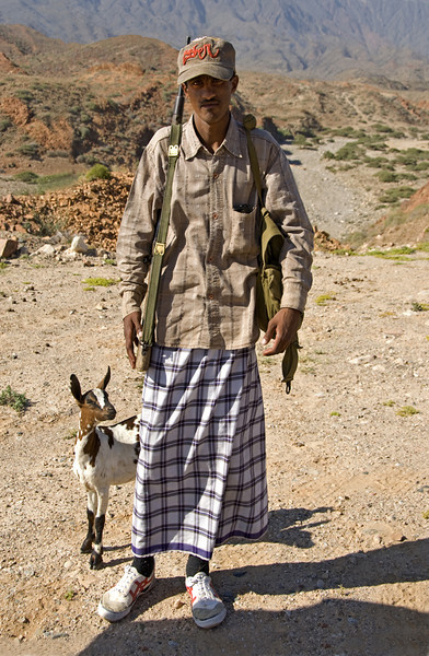 Goatherd in the highlands outside Salalah.