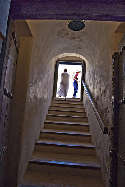Stairway to top Nizwa Fort