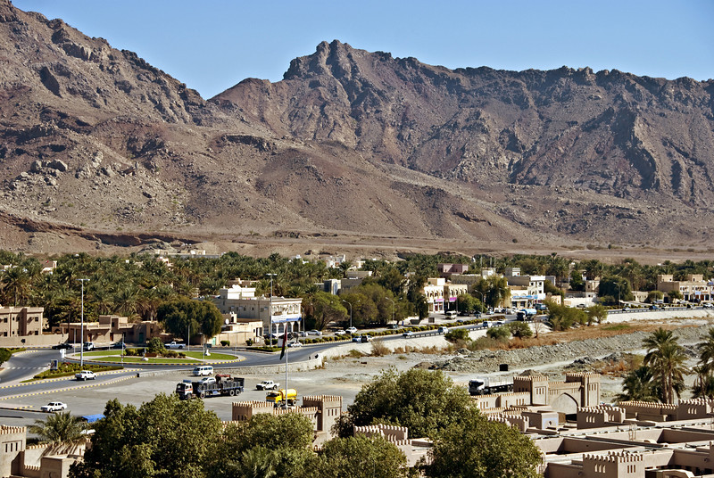 View from the ramparts of the fort, Nizwa.