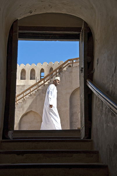Ali at the top of the fort, Nizwa.