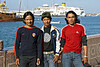 Three tourists from Nepal, along the Corniche, Mutrah.