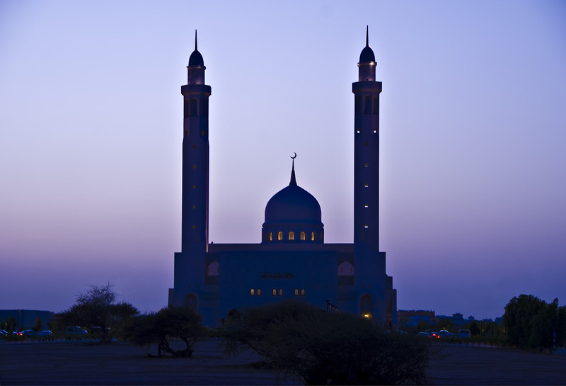 Mosque at twilight, Muscat.