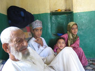 Hadth, his grandaughter Eman and grandsons Abdulla and Ibrahim.
