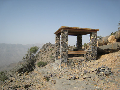 A rest stop on the walk round Wadi Nakhr Gorge