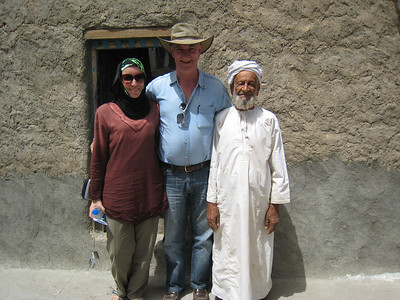 With Hadth outside his house