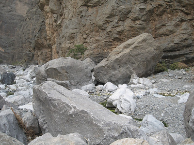 Some of the rocks that were washed down in the last floods.