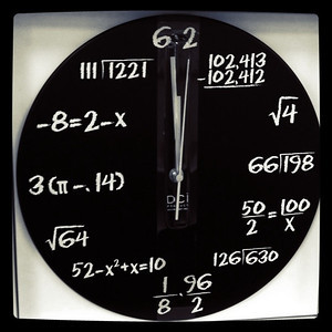 A wall clock for geeks