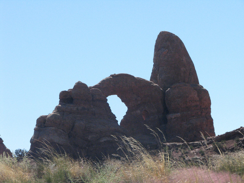 A closer look of Turret Arch.