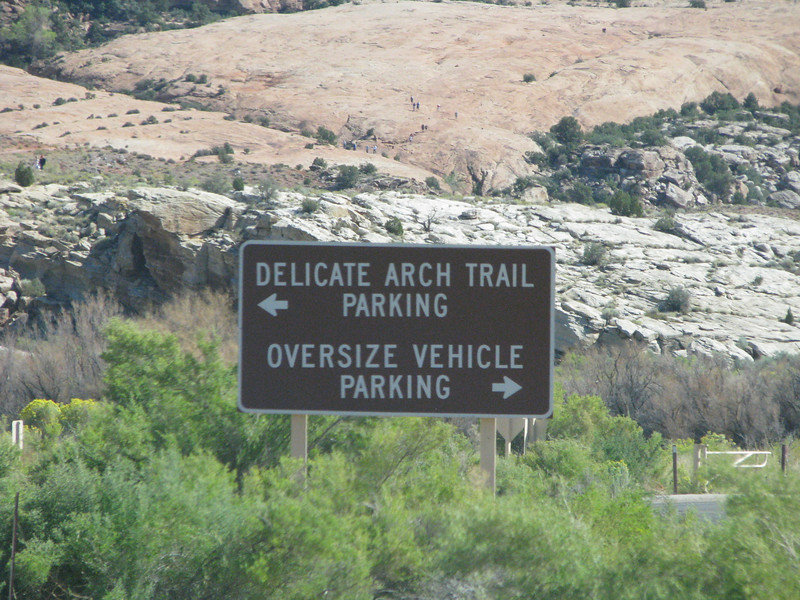 This parking area is for the people who want to hike up for close and personal look of Delicate Arch.