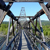 Footbridge --<br /> Crooked Yukon bridge and the moon