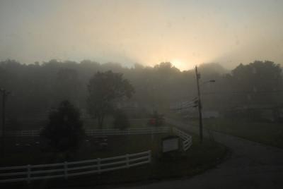 Sunrise near Pittsburgh, PA.