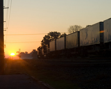 Norfolk Southern intermodal freight outside Swanton, OH.