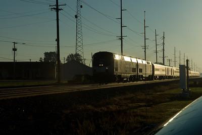Amtrak Lakeshore Limited outside Swanton, OH.