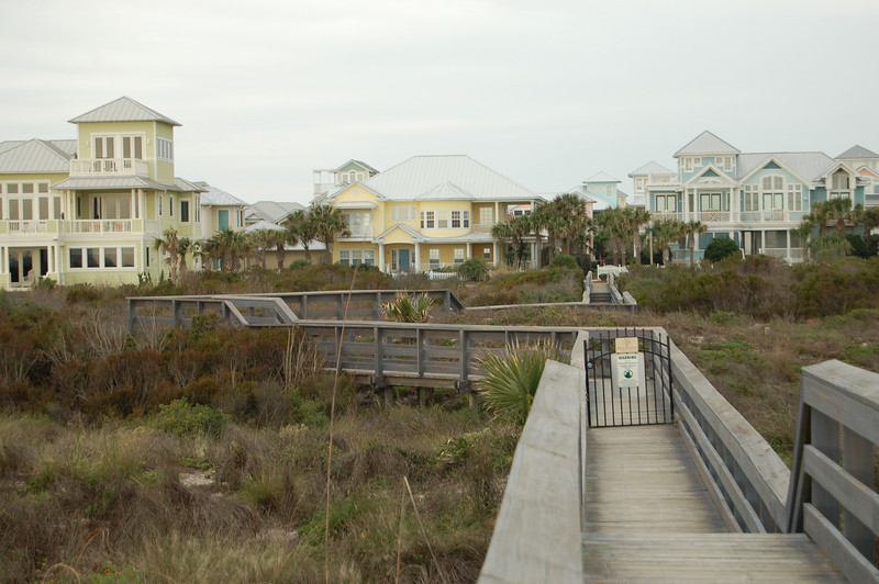 boardwalk to their beach