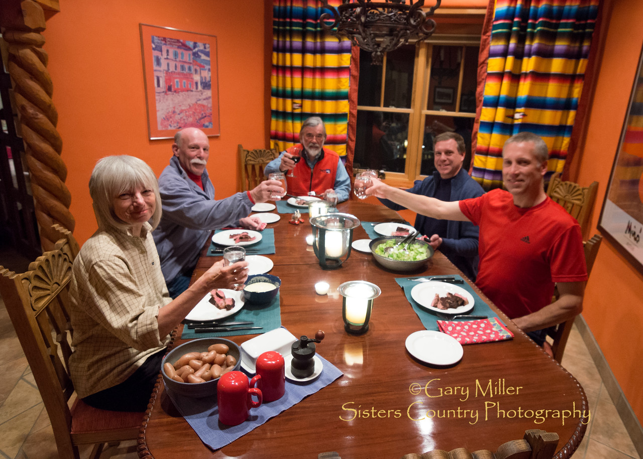 Dinner at Chuck & Lee's - Arroyo Seco - Robert's Family Ski Reunion 2013 - Gary N. Miller - Sisters Country Photography