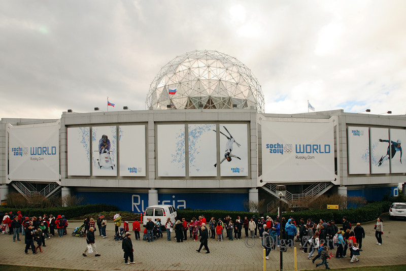 <p>Russian Sochi 2014 House, Winter Olympic in Vancouver, British Columbia, Canada</p>