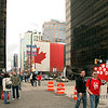 <p>Street scene at the time of Winter Olympic in Vancouver, British Columbia, Canada</p>