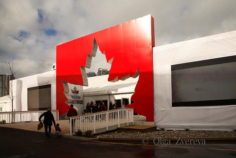 <p>Canadian Hockey House. Winter Olympic in Vancouver, British Columbia, Canada</p>